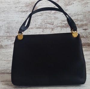 🔴Vintage Black Silky Miss Lewis Handbag